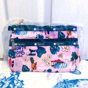 NWT 🌺🍍🌈 LeSportsac Hawaii Aloha Cosmetic Bag